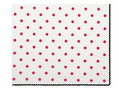 Panno per pulizia occhiali – design con pallini rossi