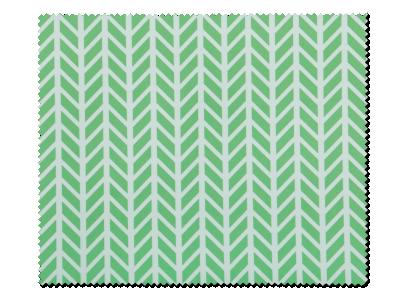 Panno per pulizia occhiali -  design verde bianco