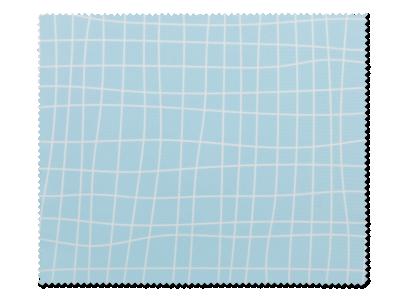 Panno per pulizia occhiali -  griglia azzurra