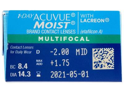 1 Day Acuvue Moist Multifocal (30 lenti) - Caratteristiche generali