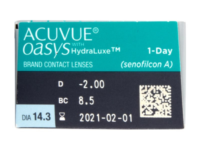 Acuvue Oasys 1-Day with Hydraluxe (30 lenti) - Caratteristiche generali