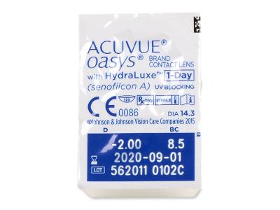 Acuvue Oasys 1-Day with Hydraluxe (90 lenti) - Blister della lente