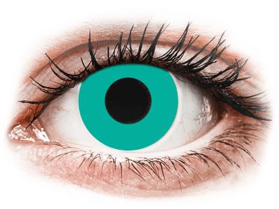 CRAZY LENS - Solid Turquoise - giornaliere non correttive (2 lenti)