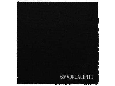 Panno per pulizia occhiali - nero con logo Adrialenti