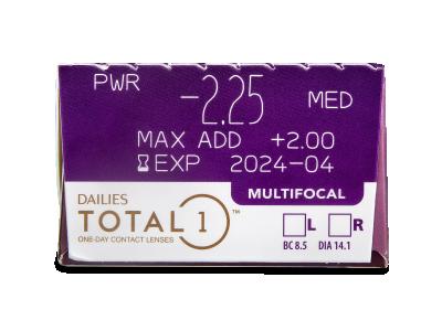 Dailies TOTAL1 Multifocal (30 lenti) - Caratteristiche generali