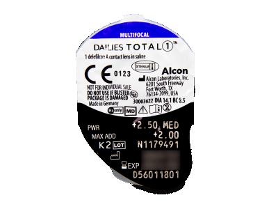 Dailies TOTAL1 Multifocal (30 lenti) - Blister della lente