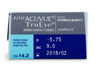1 Day Acuvue TruEye (30lenti) - Caratteristiche generali