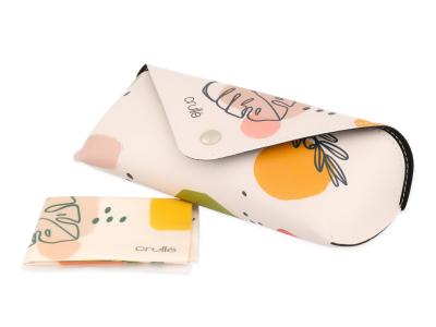 Custodia Crullé con panno per pulizia occhiali – Pastel Plant
