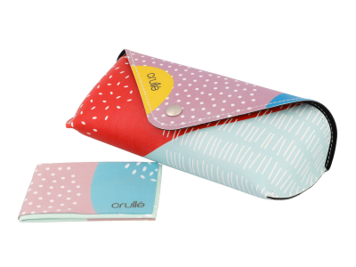 Custodia Crullé con panno per pulizia occhiali – Dreamy Balloons