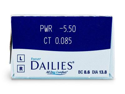 Focus Dailies All Day Comfort (30lenti) - Caratteristiche generali