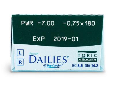 Focus Dailies Toric (30lenti) - Caratteristiche generali