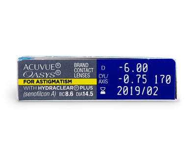Acuvue Oasys for Astigmatism (6lenti) - Caratteristiche generali