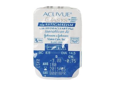 Acuvue Oasys for Astigmatism (6lenti) - Blister della lente