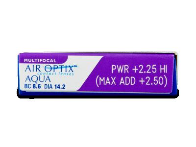 Air Optix Aqua Multifocal (3lenti) - Caratteristiche generali