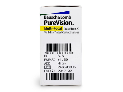 PureVision Multi-Focal (6lenti) - Caratteristiche generali
