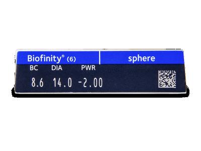 Biofinity (6lenti) - Caratteristiche generali
