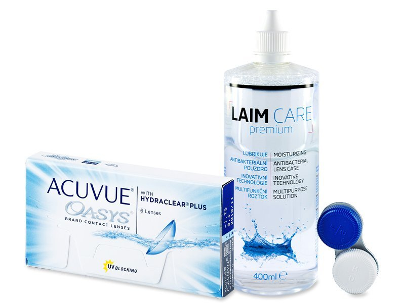 Acuvue Oasys (6lenti) + soluzione Laim-Care 400 ml - Package deal