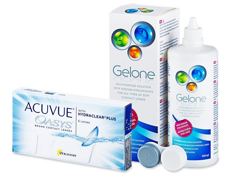 Acuvue Oasys (6lenti) + soluzione Gelone 360 ml - Package deal