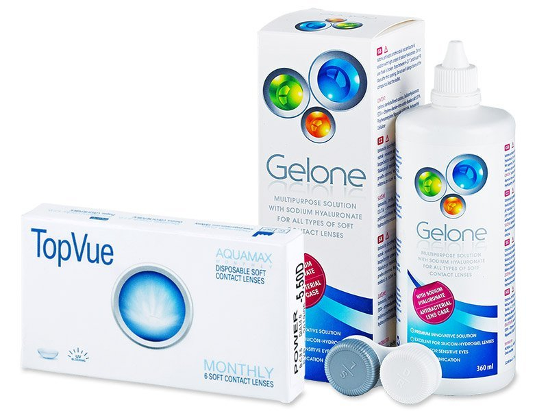 TopVue Monthly (6 lenti) + soluzione Gelone 360 ml - Package deal