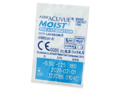 1 Day Acuvue Moist for Astigmatism (30lenti) - Blister della lente