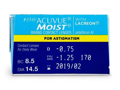 1 Day Acuvue Moist for Astigmatism (30lenti) - Caratteristiche generali